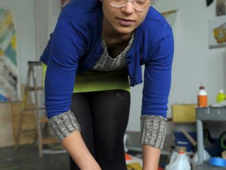 """Alexis Thompson is an MFA painting candidate and one of the graduates organizing """"Ahem."""" 