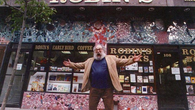 Larry Robin, owner of Robin's Bookstore, stands outside his North 13th St. store in the '70s. | COURTESY GREG JONES