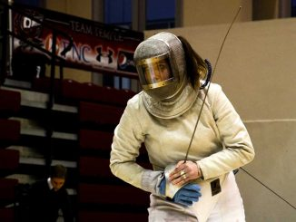 The fencing team competed to a 2-2 record at the Temple Invitational at McGonigle Hall on Feb. 24. The seniors were honored in a pre-match ceremony. | DANIEL PELLIGRINE / TTN