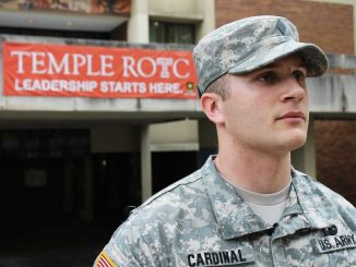 Alex Cardinal, an ROTC member and senior history major, will serve in the U.S. Army after graduation. Seniors in the program who are contracted are preparing to take on their assigned duties. | ALI WATKINS / TTN