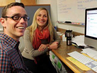 Joshua Klein and Kimberly Chestnut helped establish Safe Zone for LGBT students. | CINDY STANSBURY / TTN