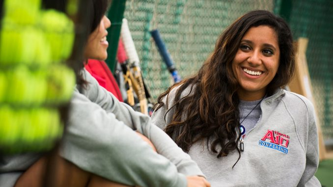 Sophomore Jasmine Merali has found other ways to contribute to the Owls off the tennis court. She has yet to play in a match for Temple. | Edward Barrenechea TTN