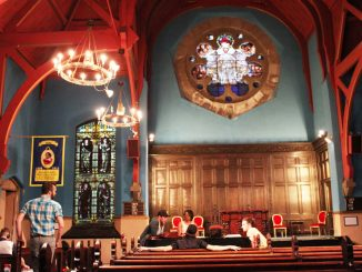 First Unitarian Church, located at 2125 Chestnut St., is utilized by church-related events along with shows hosted by R5 Productions, which also works with Union Transfer, Boot & Saddle, Johnny Brenda's and more. | Kara Milstein TTN