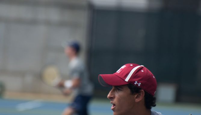 Hicham Belkssir is 6-0 in singles play after the Navy Invitational and the Princeton Invitational. | Abi Reimold TTN