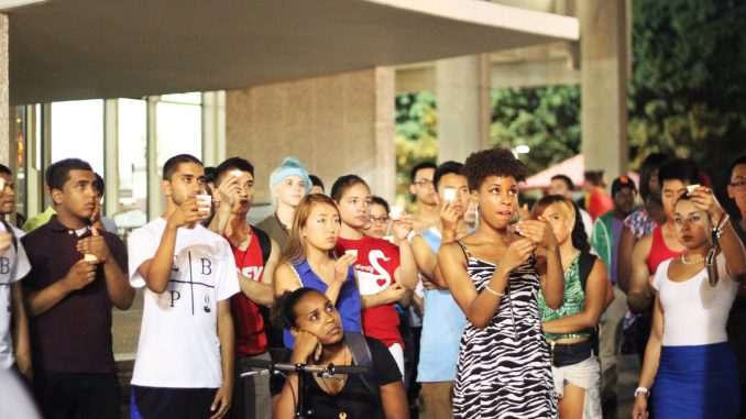 The Multicultural Greek Council held its first candlelit vigil in honor of 9/11 victims. | Kara Milstein TTN