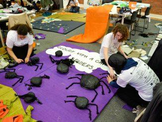 "Candice Vanderhorst led fellow students in the creation of ""Spookytown"" through AIA. | Skyler Burkhart TTN"