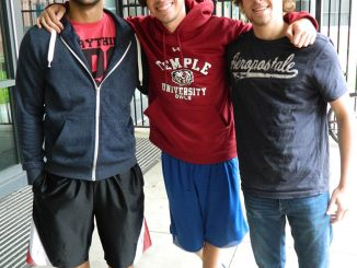 MCPB chose B.o.B for this year's homecoming performer. Harsh Patel (left), Jake Himes and John Hardie, among other students, shared their thoughts. | Sash Schaeffer TTN