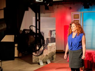 """Lisa Bien created """"Bouncing Back,"""" a TUTV show that confronts self esteem issues among students.   Eric Dao TTN"""