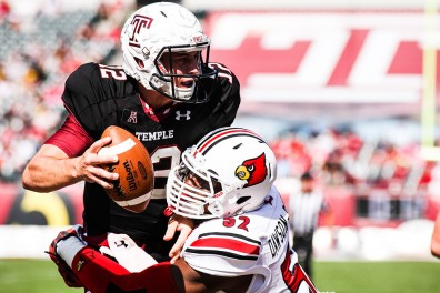 Redshirt junior quarterback Connor Reilly was pulled by coach Matt Rhule after his first two drives. Reilly was 3 for 7, and threw for 25 yards. | Timothy Valshtein TTN
