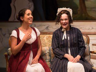 "Minora (left) appears as Jane Fairfax in ""Emma."" | Courtesy LANTERN THEATER CO."