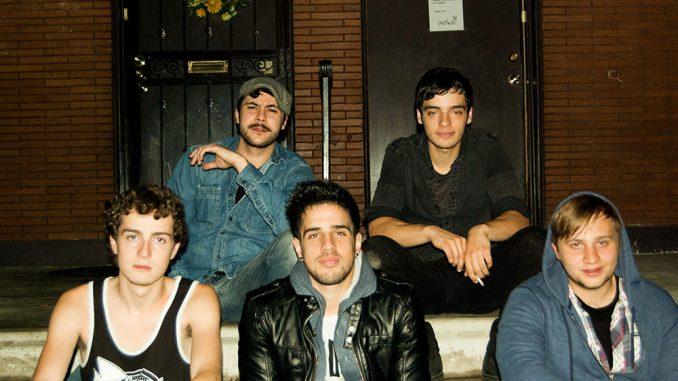 Morningside Lane brings its Jersey pride to the Philadelphia music scene. Left to right: Chris Beddy, Ricardo Quadros, Marc Del Giudice, Alexander Del Giudice and Jon Khan.   COURTESY ROBERT JOHN KENNEDY