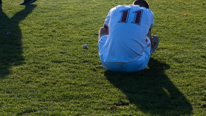 Senior midfielder/forward Jake Lister reflects after loss to USF.   Paul Klein TTN