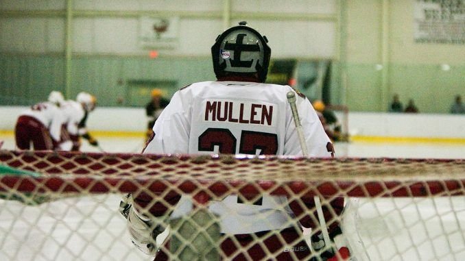 Chris Mullen makes a save during the Owls' 5-2 loss to Rowan on Friday night. Temple's defense has given up high shot totals during early season competition. | Paul Klein TTN