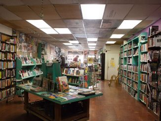 Wooden Shoe Books and Records on South Street, which sells books, patches, zines and more, finds success despite an industry that seems to fall with each new e-book released. | Kara Milstein TTN