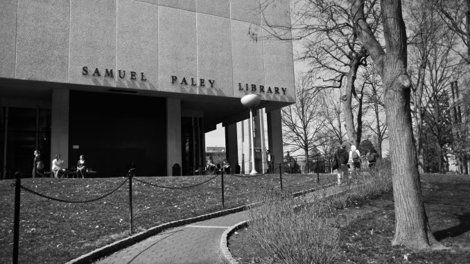 Paley Library will be repurposed following the construction of a new library in the location of Barton Hall. As part of the Visualize Temple master plan, administrators will create a new layout for the center of Main Campus.   Timothy Valsthein TTN FILE PHOTO