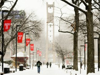 More than 11 inches of snow fell on Temple's Main Campus during last week's snowstorm. Officials closed campuses in Philadelphia area, canceling classes due to snow for the first time since 2010.| SASH SCHAEFFER TTN