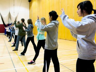 Personal Defense for Women, a kinesiology class, prepares female students to be alert, along with teaching skills like hand strikes and kicks. Students learn to defend themselves from elbow strikes, wrist grabs and chokeholds in the class curriculum. | Eric Dao TTN
