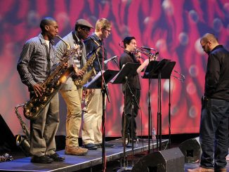 Jazz students and the Fresh Cut Trio play a Sunday night jam session at the Painted Bride.| Emily Rolen TTN