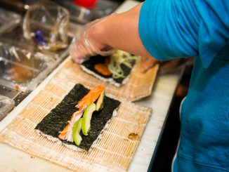 Sushi Busz is among several trucks on Main Campus to use locally sourced ingredients for its menu options, namely meat and vegetables.   Eric Dao TTN