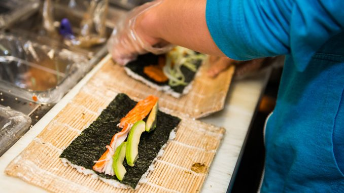 Sushi Busz is among several trucks on Main Campus to use locally sourced ingredients for its menu options, namely meat and vegetables. | Eric Dao TTN