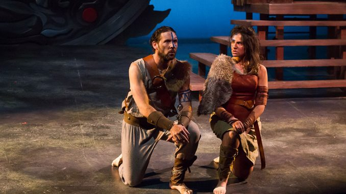 (RIGHT) Theater student Angela Fennell plays Ross alongside professional actor Tim Dugan, who played Lord Macduff. | Luis Fernando Rodriguez TTN