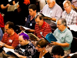 """The Philadelphia Singers practice a piece by Mozart. The group also just recently funded their first recording of Randall Thompson's """"Requiem"""" with the help of a Kickstarter campaign. 