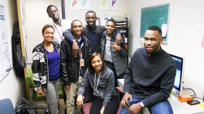 Martin DeVose (right) is a leader at POPPYN. He helps local high school students create TV broadcasts. He believes Philadelphia youth shouldn't be stereotyped. | David Ziegler TTN