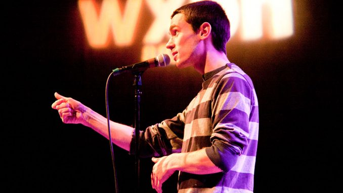 Spoken word poets and artists performed at The Philadelphia Moth StorySLAM launch in January at WXPN's World Cafe Live. | courtesy THE MOTH