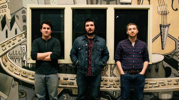"Local Americana rock band Levee Drivers at World Cafe Live. The trio released its first album, ""Speakin' Bourbon Coated Blues"" in November. The band recently kicked off a nine-day tour on April 12.