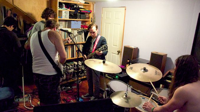 Punk band The Weaks practice for upcoming shows. Right now, the group says its main focus is to finish recording its latest LP.   Kristen Vanleer TTN