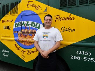 Adriano Redante brings his truck, Braz-BQ, to Main Campus twice a week. He made a deal with Debbie Dasani, another truck owner, to share parking.  Sash Schaeffer TTN