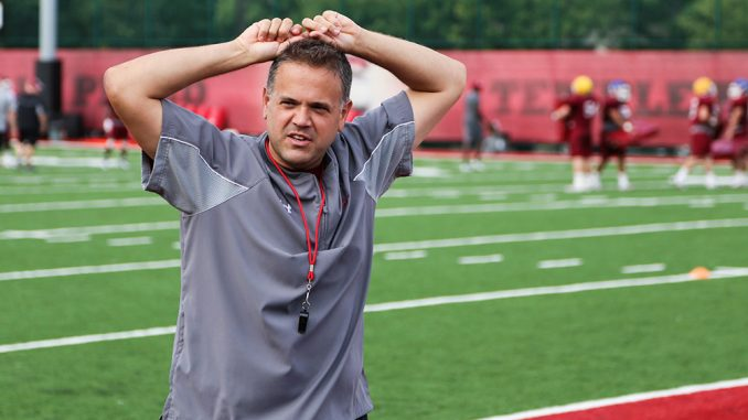 Entering his second season, Rhule is looking to improve on last season's 1-9 conference record. Andrew Thayer   TTN