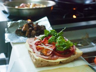 An Italian sandwich sits on the counter of Temple's Best Italian Sandwiches. Allan Barnes | TTN