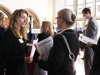 Students had the opportunity to network with 93 employers at Fox's Fall Connection on Sept. 17. Claire Sasko | TTN