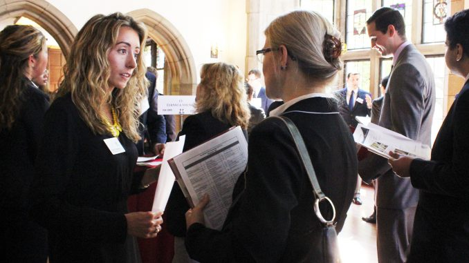 Students had the opportunity to network with 93 employers at Fox's Fall Connection on Sept. 17. Claire Sasko   TTN
