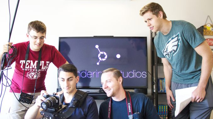 Connor Griffin (left), Brendan Grant, Chris Murray, Jake Mattern. Connor Griffin and Brendan Grant created Wandering Studios while they were in high school. Alex Friend | TTN