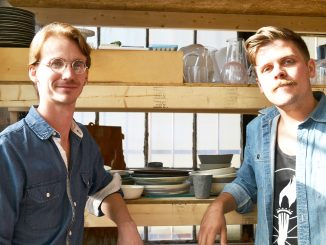 Wynn Bauer (left) and Nate Mell, started Felt and Fat in 2008 in their Fishtown studio. Jenny Kerrigan | TTN