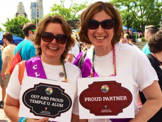 Sandy Ferlanie (left) and Christine Donato marched in the 2014 Pride Festival in June. | COURTESY Ryan carville