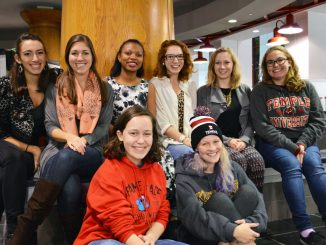 Members of Temple Tappers sit in the Student Center. The tap dance group started in 2011 and is currently recruiting new members. Sash Schaeffer  TTN