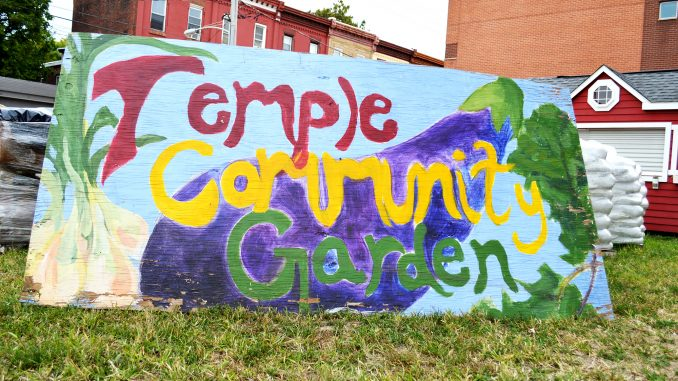 Temple Community Garden was previously set to move near the Temple University Regional Rail station but relocated due to inadequate soil. It now sits at the corner of Diamond and Carlisle streets. Sash Schaeffer |TTN