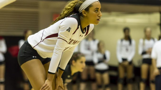 Sophomore Kirsten Overton is currently posting a career high in hitting percentage with 40.9 percent, almost 17 percent higher than the team's average. Donald Otto | TTN