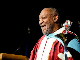 Bill Cosby speaks at a graduation ceremony in May 2013. The famed comedian and alumnus served on the Board of Trustees for 32 years. Andrew Thayer | TTN