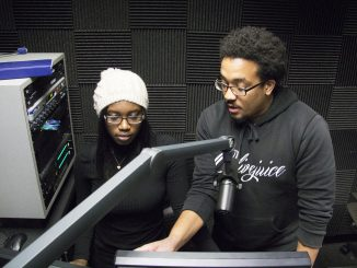 Senquetta Brittingham (left) and Rahman Wortman host Power Hour Muzik. Margo Reed | TTN