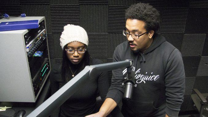 Senquetta Brittingham (left) and Rahman Wortman host Power Hour Muzik. Margo Reed | TTN