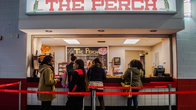 The Perch offers food to students at a discounted price of 25 percent cheapter than other venue options.   Brianna Spause TTN