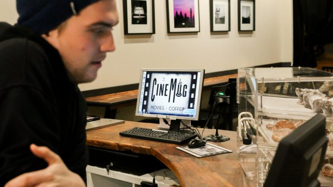 CineMug acts as both a coffee shop and movie rental store, with more than 1,600 titles in stock. | Jenny Kerrigan TTN