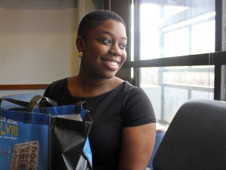 For her 21st birthday, Lorae Bonamy collected 21 bags of 21 items and offered them to 21 people experiencing homelessness in Philadelphia. | Claire Saskoa TTN