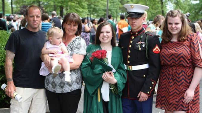 Members of Patti Coyne Powell's family attend her daughter Jess Fosburg's high school graduation. | COURTESY Jess Fosburg