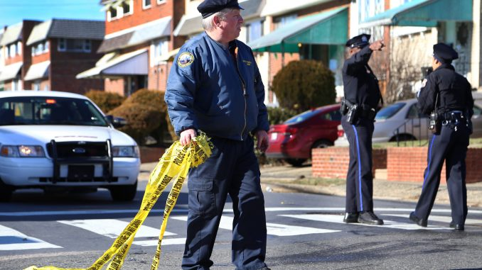 Police officers removed the caution tape at 12th and Jefferson streets around 1:30 p.m. | JENNY KERRIGAN TTN