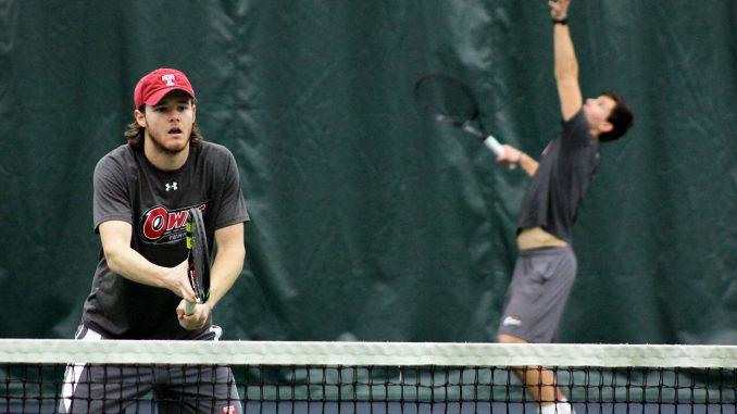 Junior Ian Glessing (left) practices alongside sophomore Filip Stipcic.   Alex Beaufort TTN